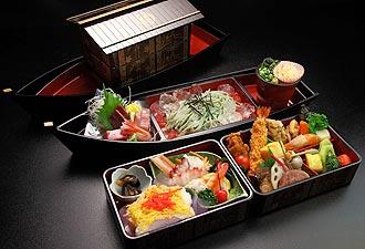 矢形舟 宴席のお料理イメージ