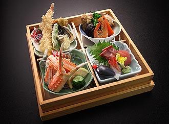 松花堂御膳2,000円のお料理イメージ