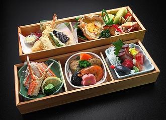 松花堂御膳3,000円のお料理イメージ